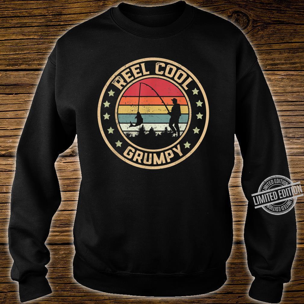 Mens Reel Cool Grumpy Fish Fishing Shirt Father's Day Shirt sweater