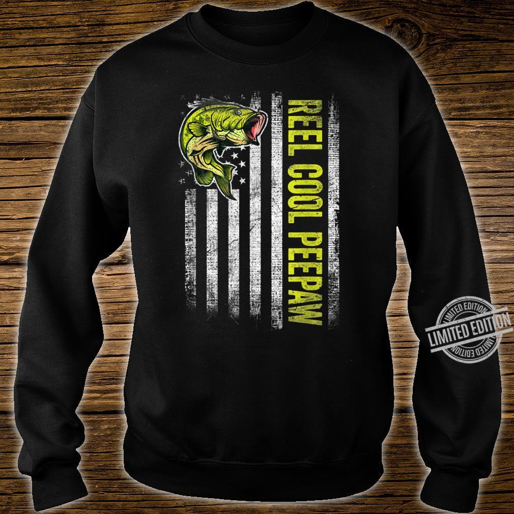 Mens Reel Cool Peepaw Father's Day Fishing American Flag Shirt sweater