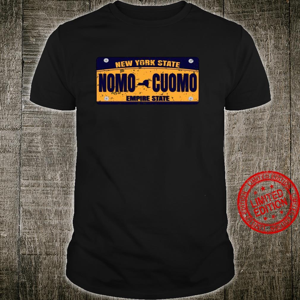 No Mo Cuomo Licence Plate Anti Cuomo Shirt