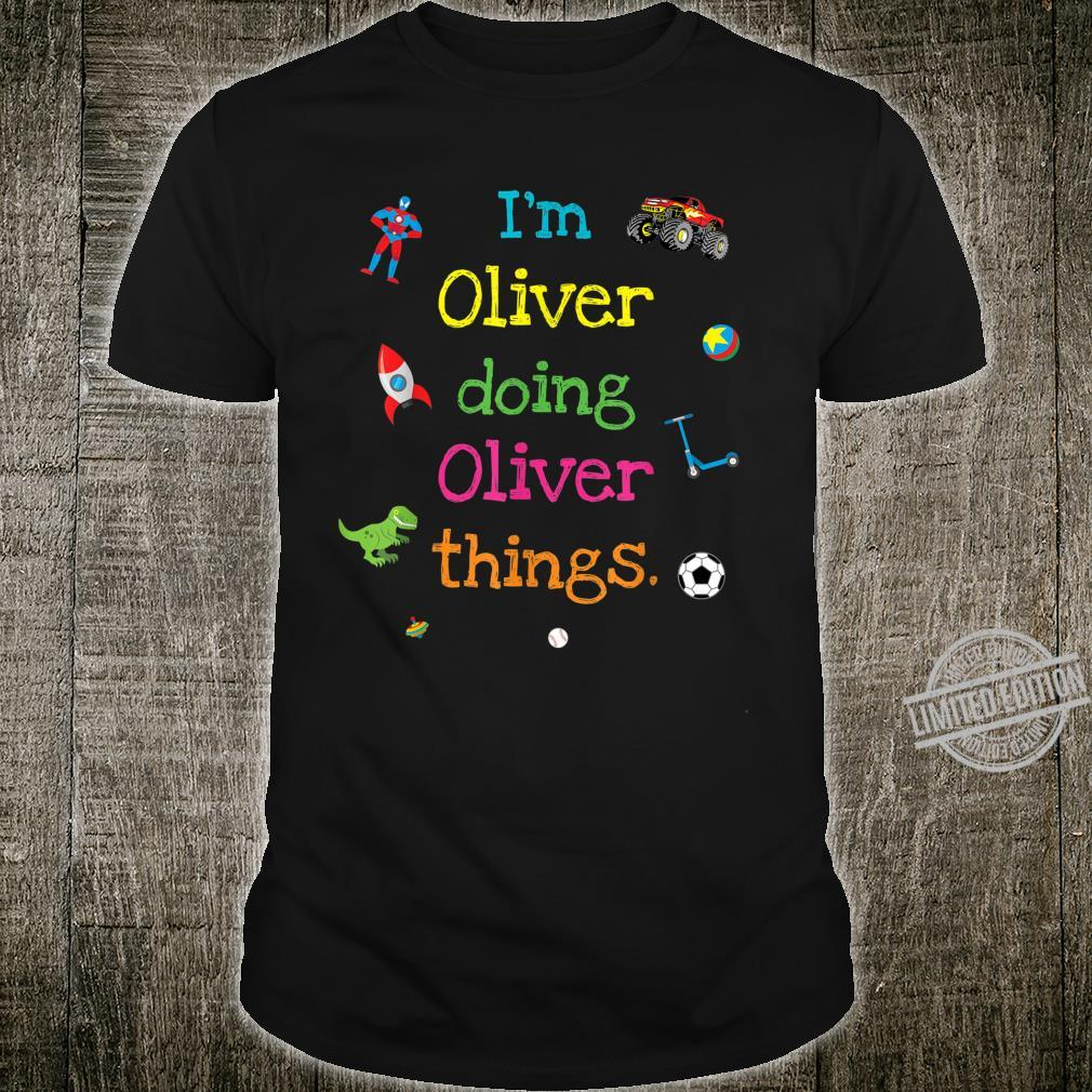 Oliver Cute Personalized Kid's Cartoon Top Shirt
