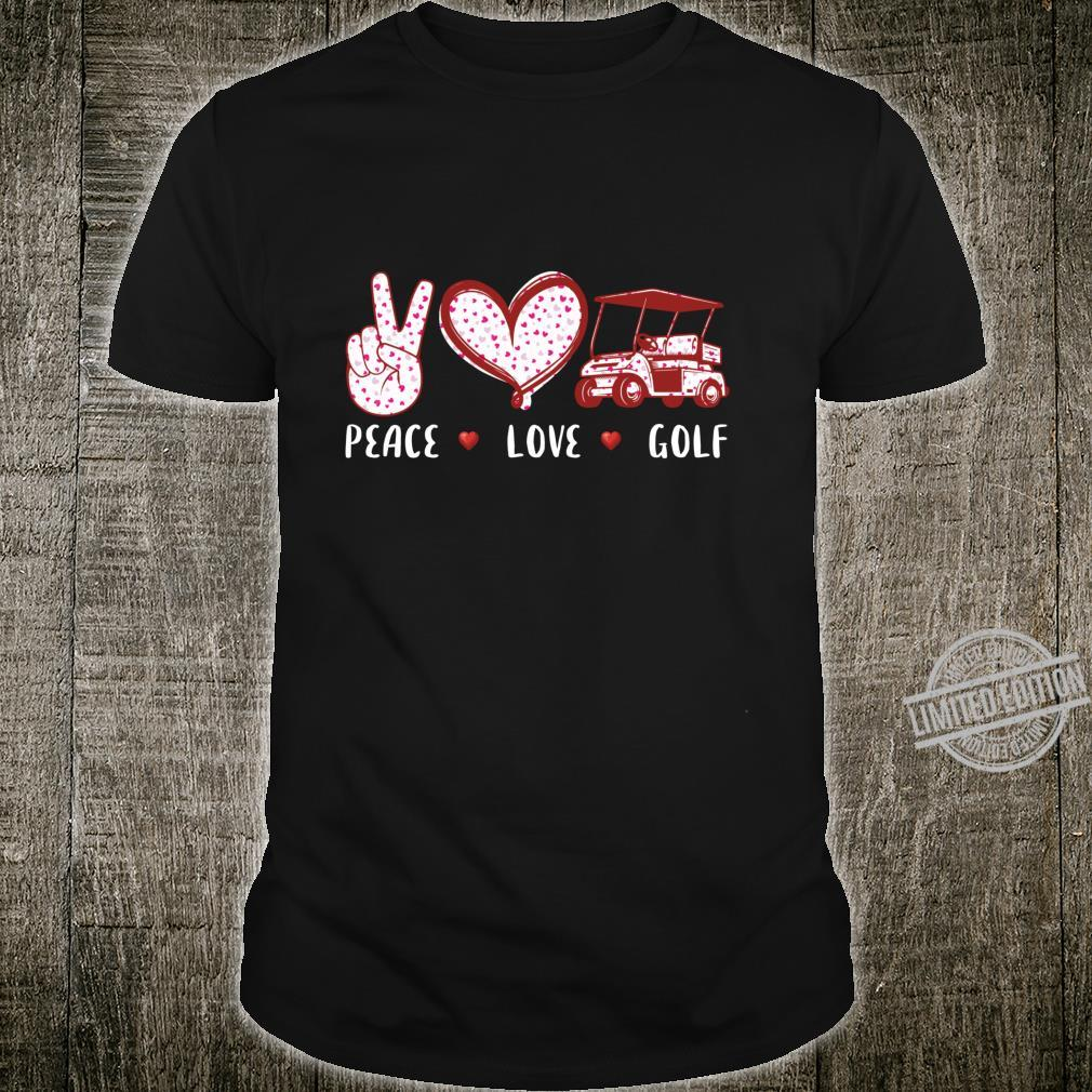 Peace love golf for girls boys coach Shirt