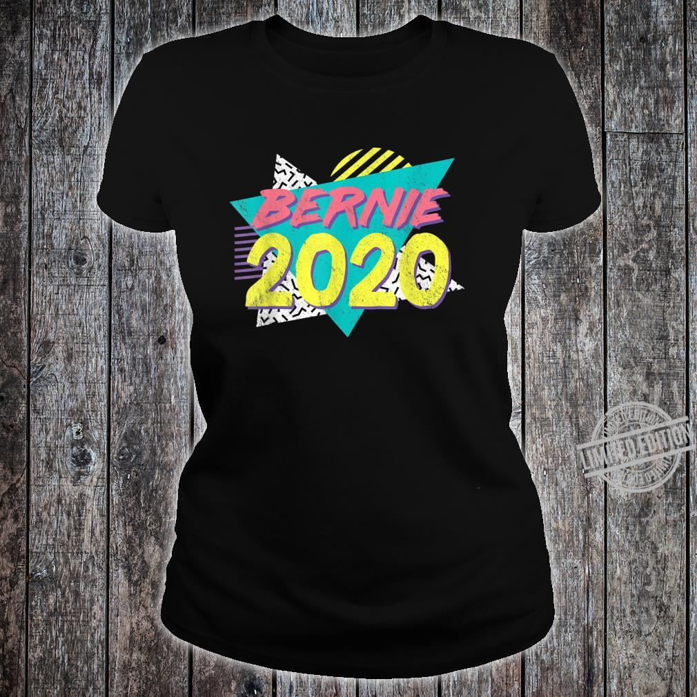 Retro Vintage Bernie Sanders 80s 90s Vaporwave Aesthetic Shirt ladies tee