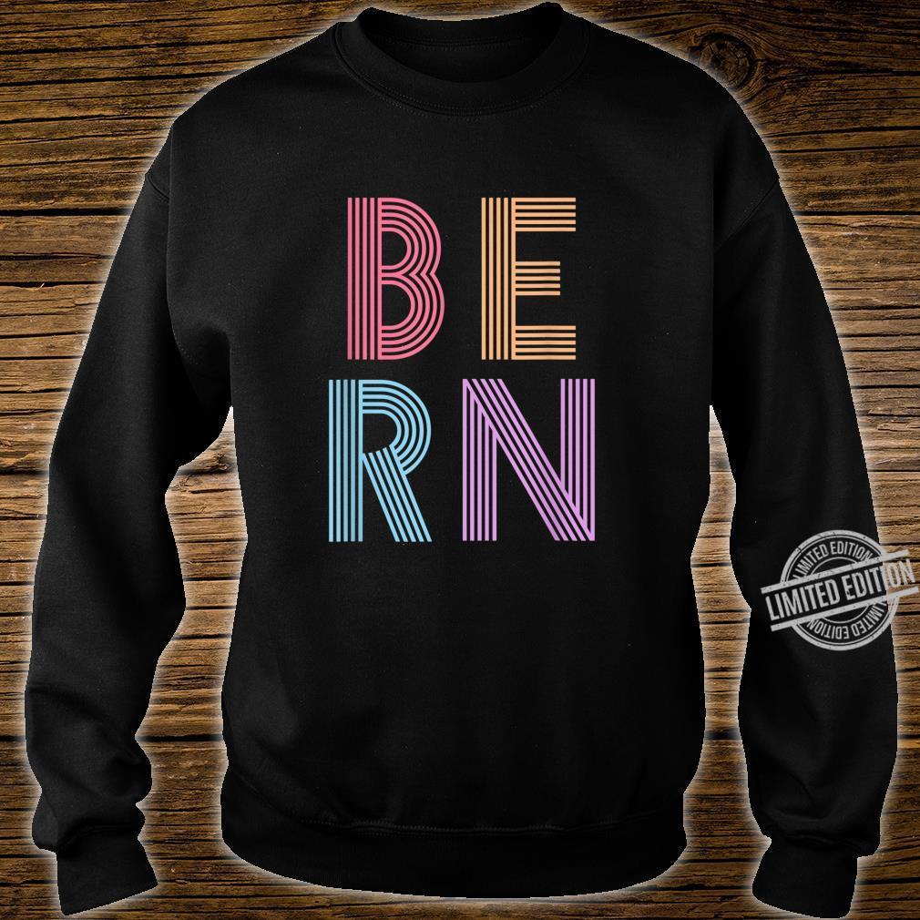 Retro Vintage Bernie Sanders BERN 80s 90s Vaporwave Shirt sweater