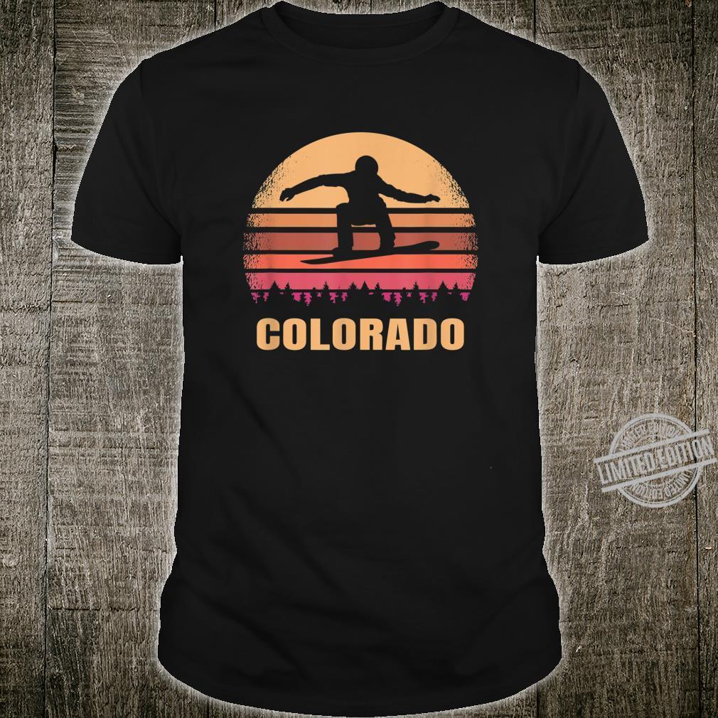 Rockies Snowboarder Colorado Snowboarding in Rocky Mountains Shirt