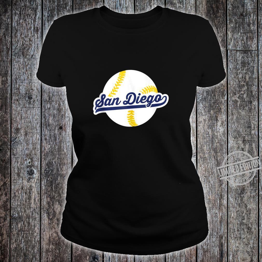 San Diego Baseball Vintage Pride Love City Shirt ladies tee