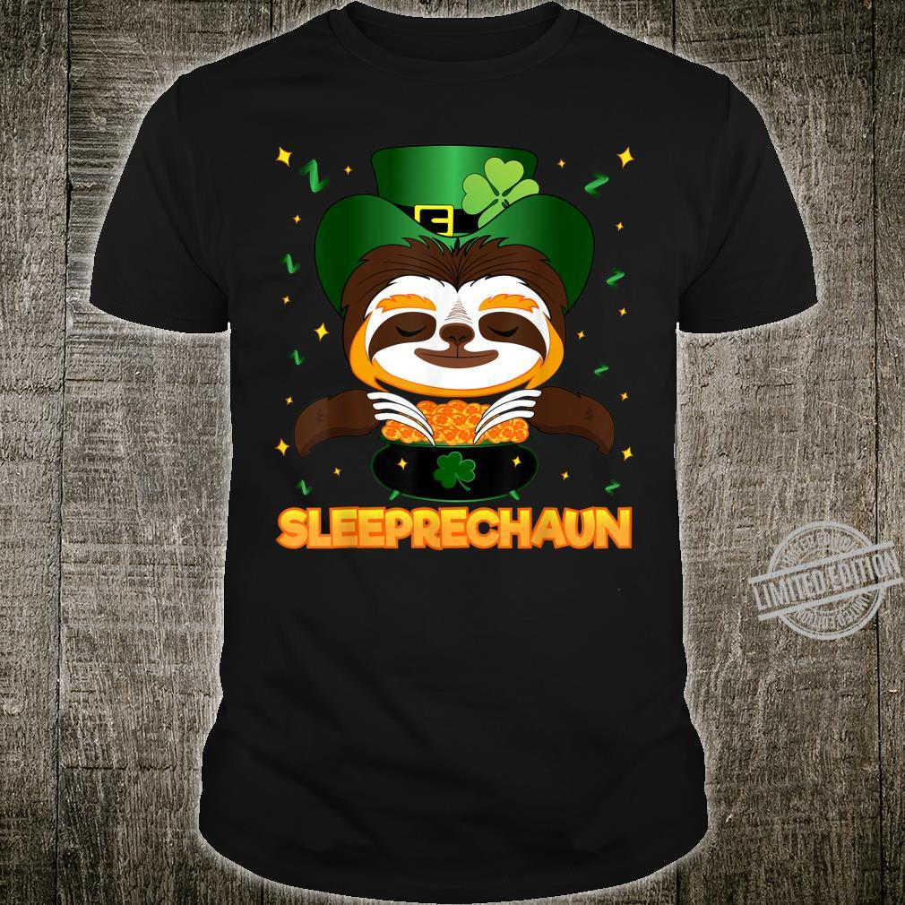 Sleeprechaun Sloth St Patricks Day Irish Sloth Leprechaun Shirt
