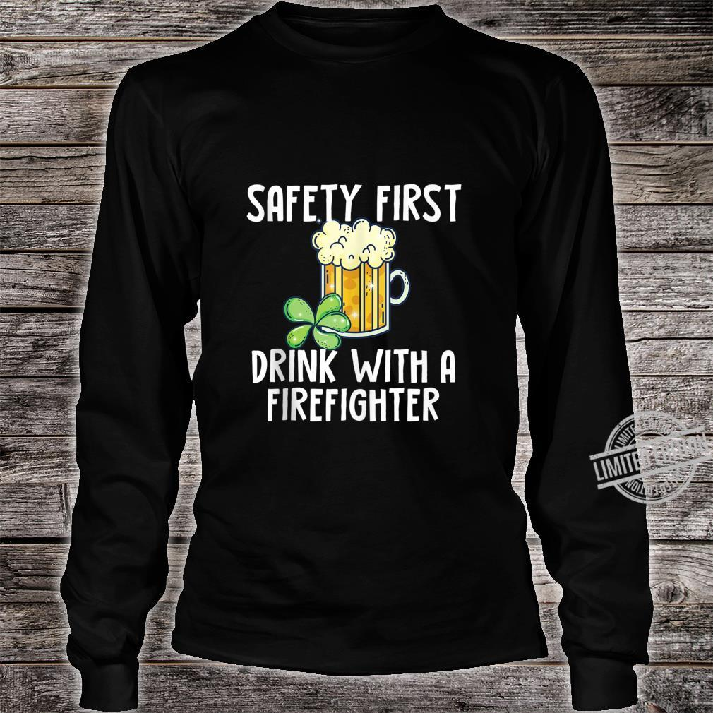 St. Patricks Day Firefighter Quote Shirt long sleeved
