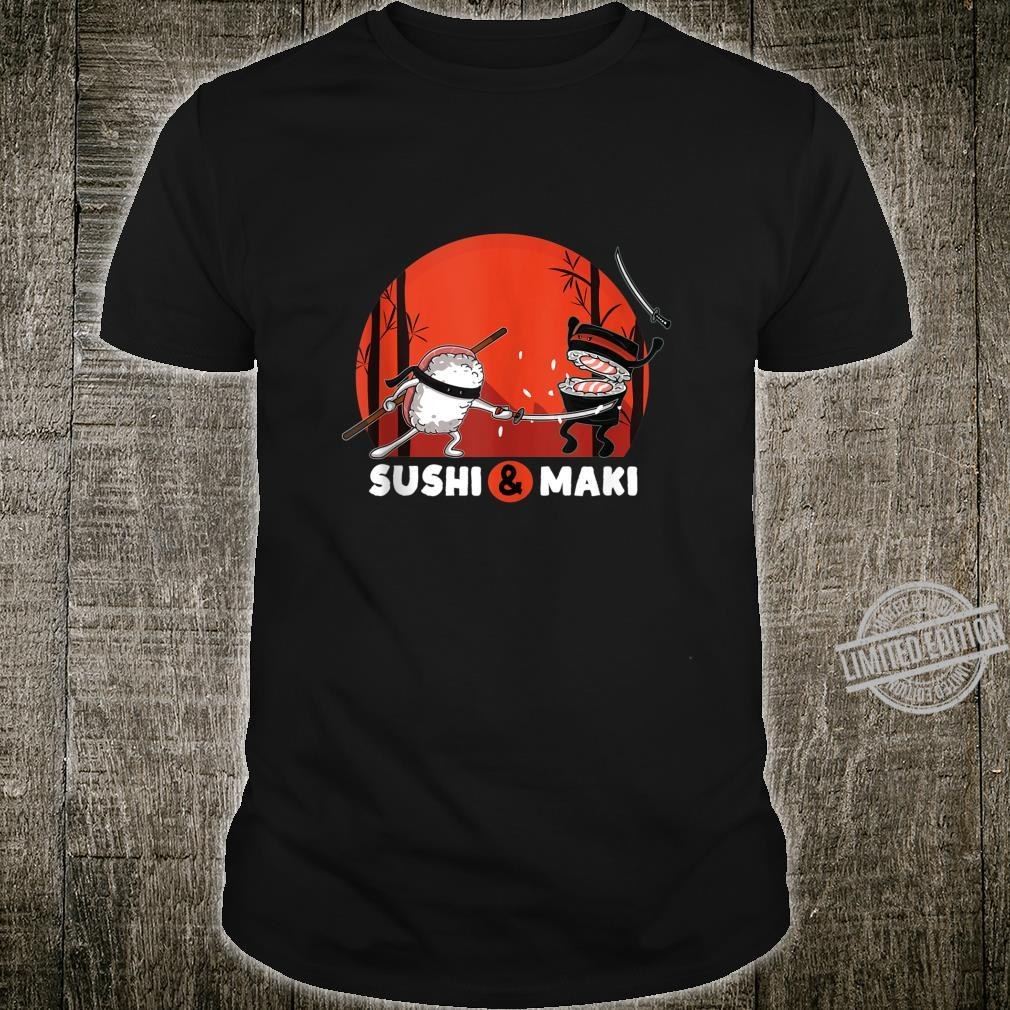 Sushi & Maki Samurai Ninja Japan Martial Arts Shirt