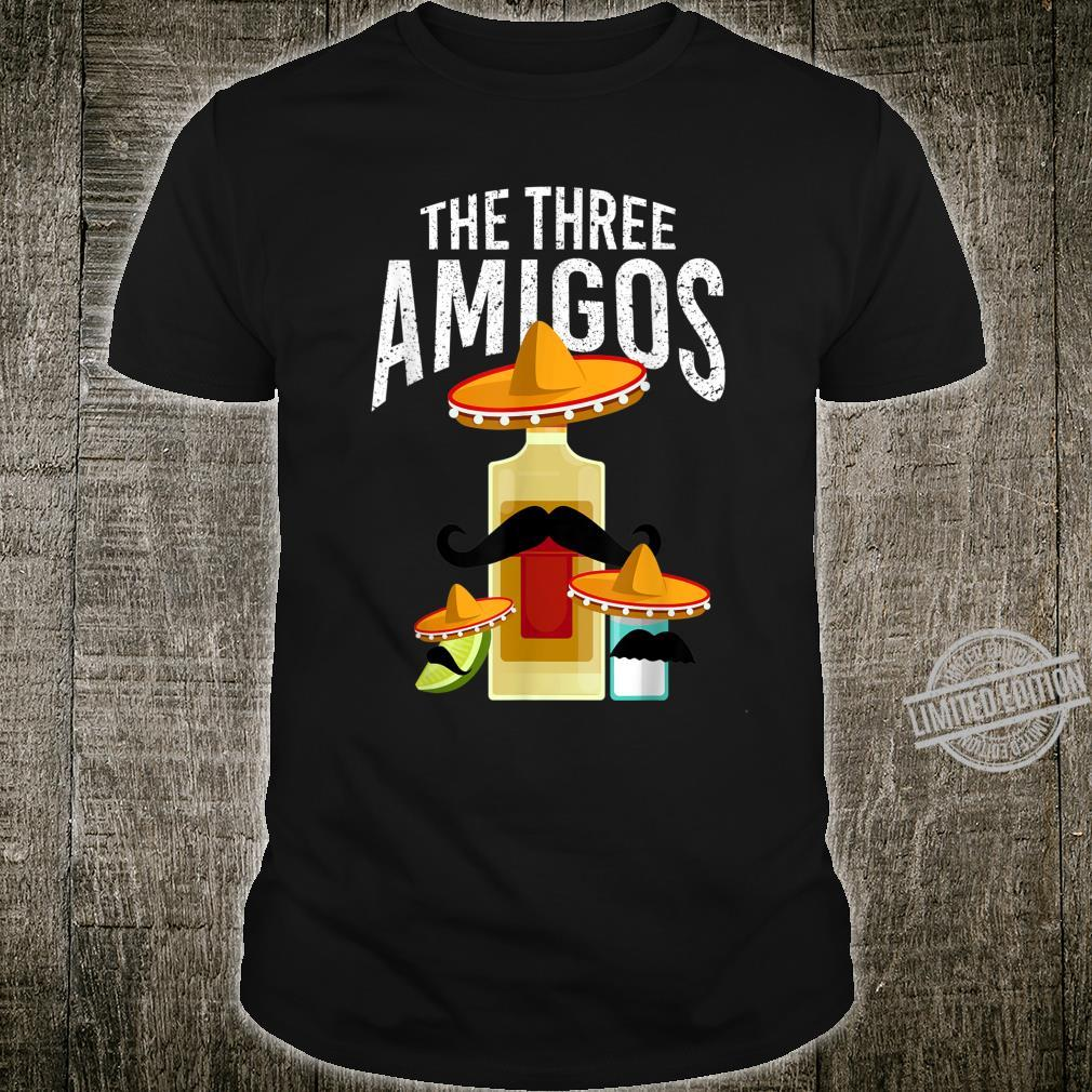 The Three Amigos Tequila Salt Lime Spanish Hombre Shirt