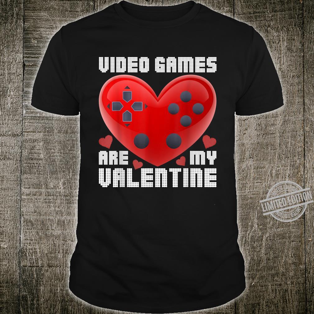 Video Game Controller Valentine's Day Heart Gamer Boys Shirt