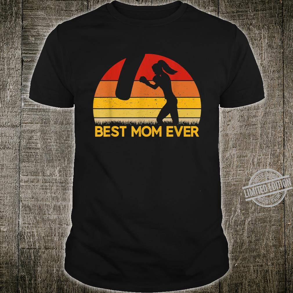 Vintage Best Kickboxing Mom Ever Shirt Mothers Day Shirt