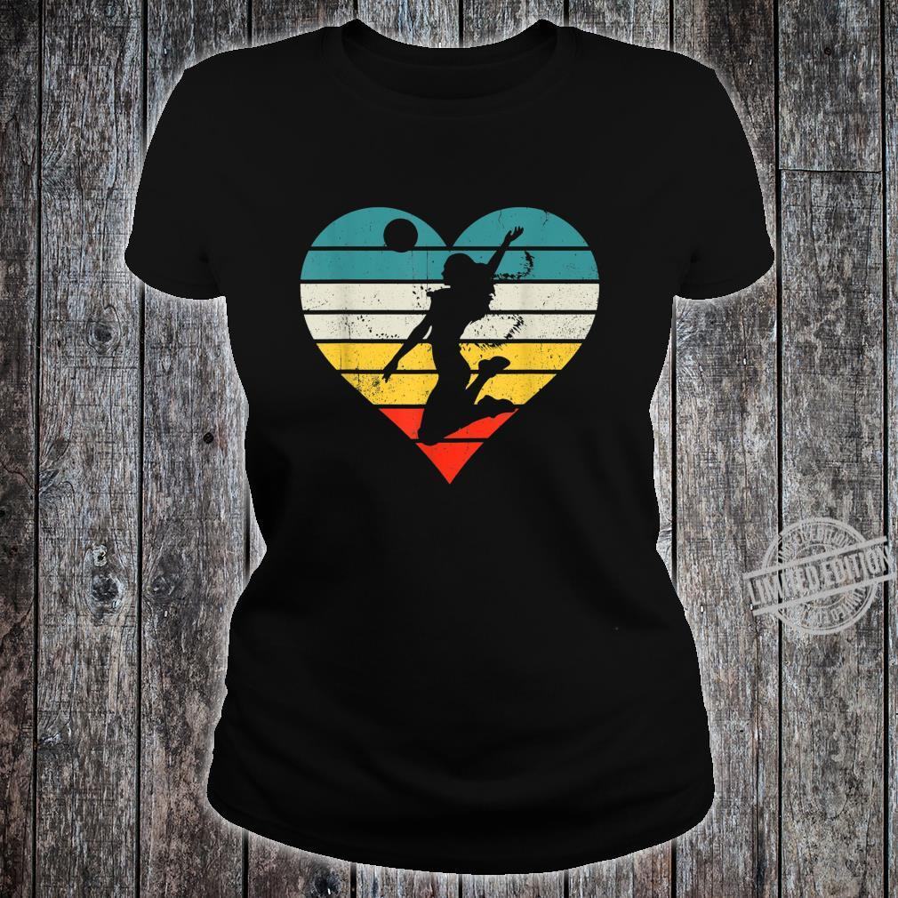 Vintage Girl Player, Retro Volleyball for Coach Shirt ladies tee