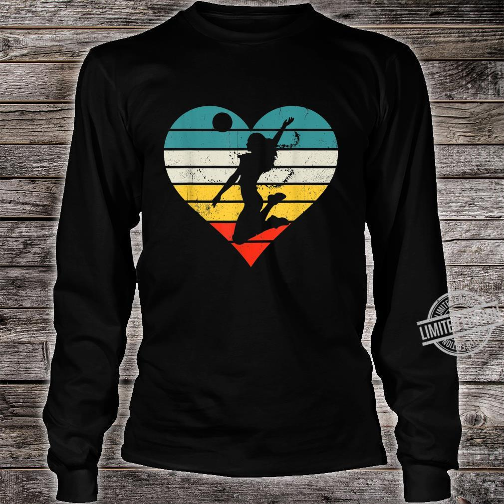 Vintage Girl Player, Retro Volleyball for Coach Shirt long sleeved