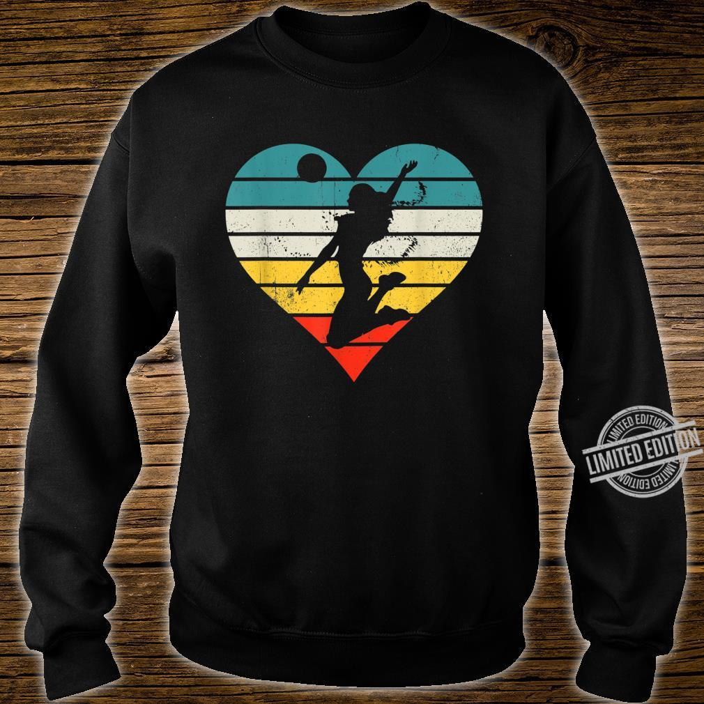 Vintage Girl Player, Retro Volleyball for Coach Shirt sweater