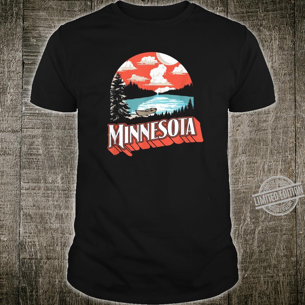 Vintage Minnesota Retro Lake & Boat Shirt