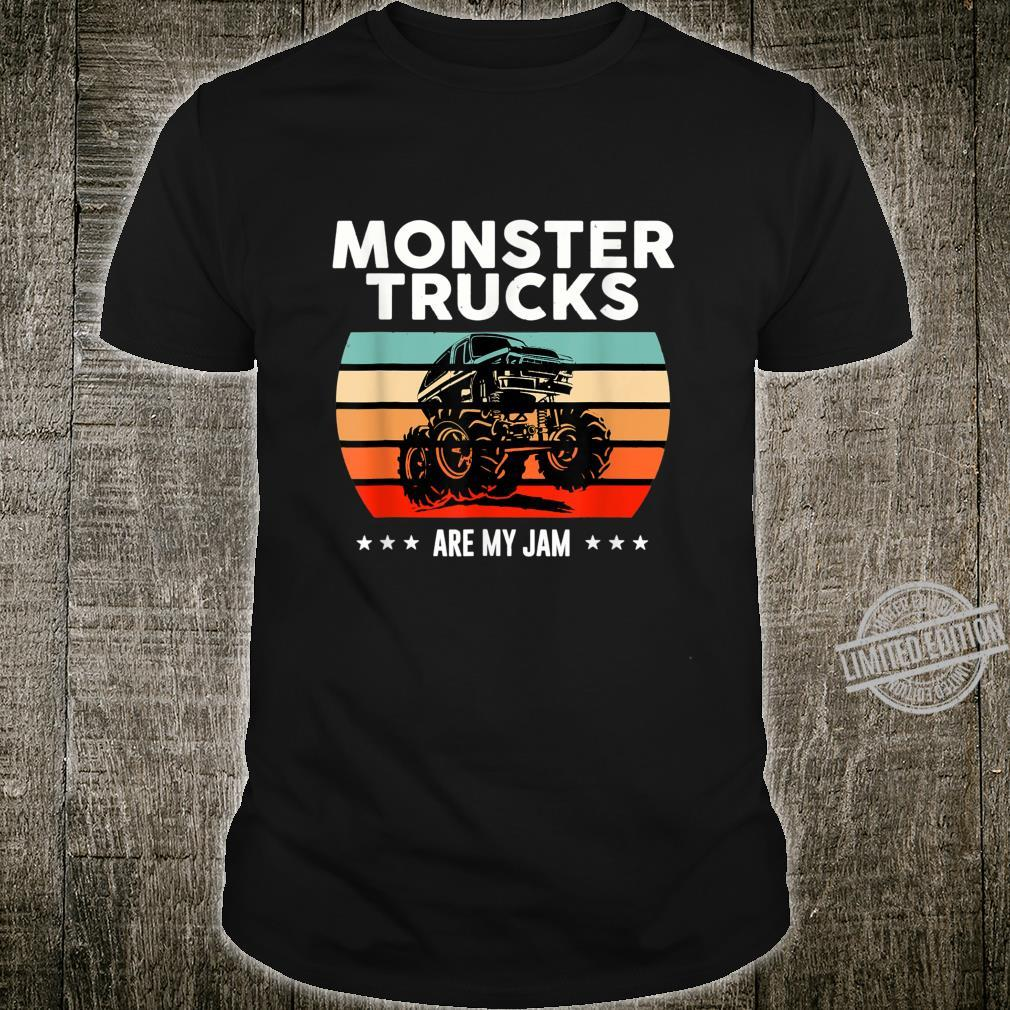 Vintage Monster Trucks Are My Jam Engines Shirt