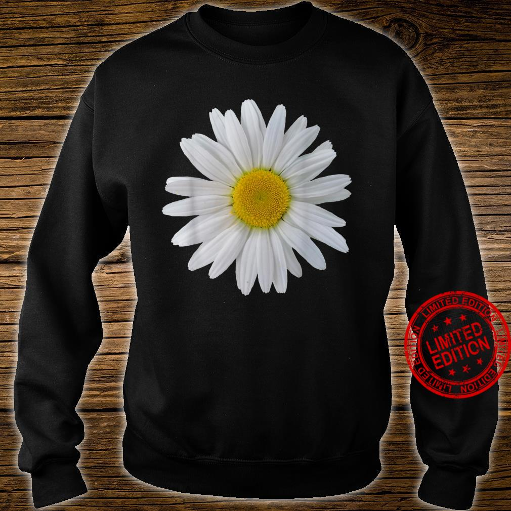 White daisy flower, blooming daisy, blooms, flowers, daisies Shirt sweater