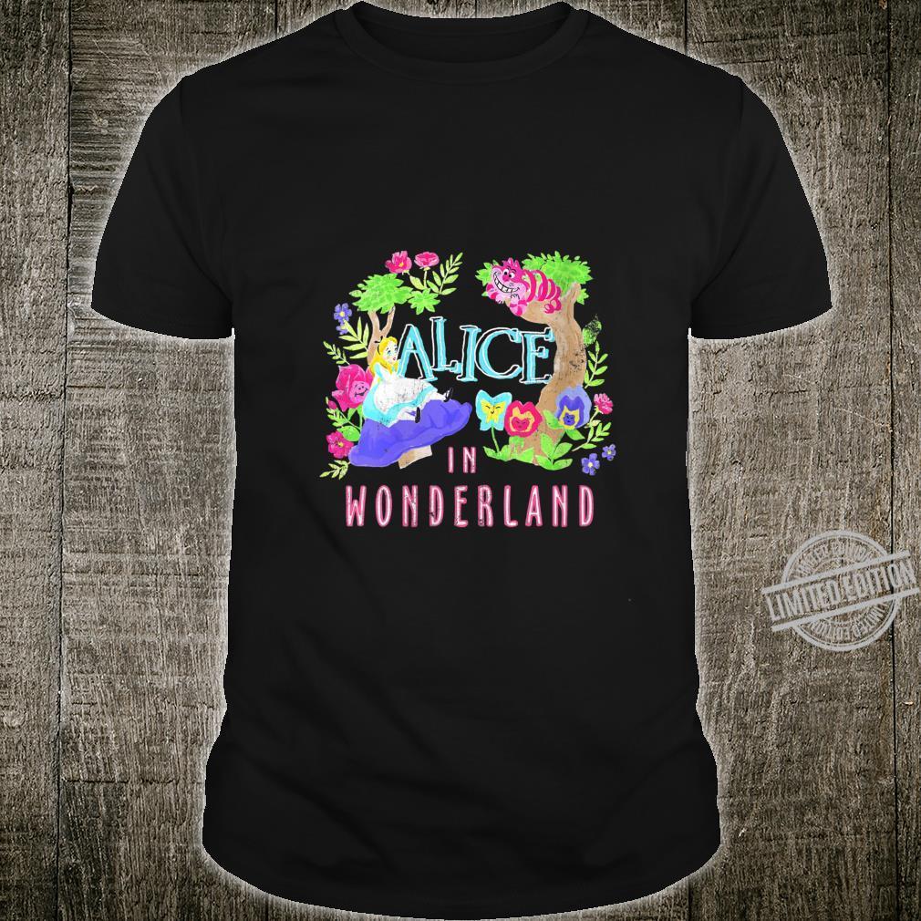 Womens Disney Alice In Wonderland Neon Forest Poster Shirt