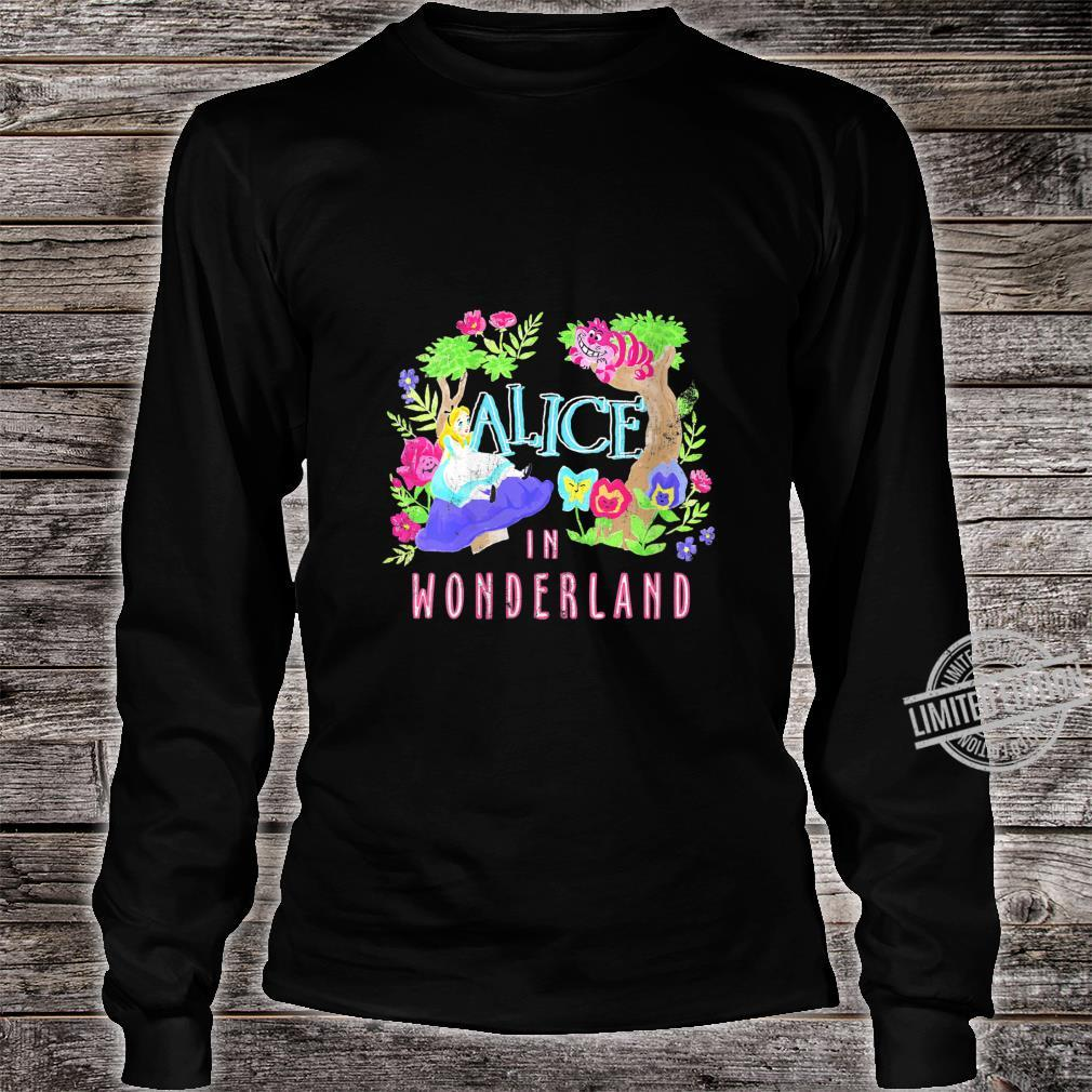 Womens Disney Alice In Wonderland Neon Forest Poster Shirt long sleeved