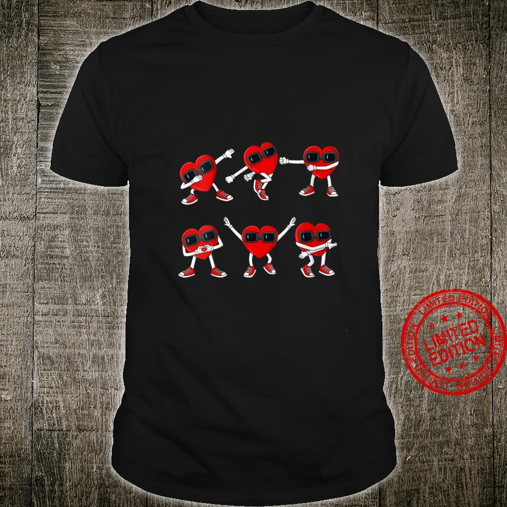 Womens Valentines Day Dancing Hearts Shirt