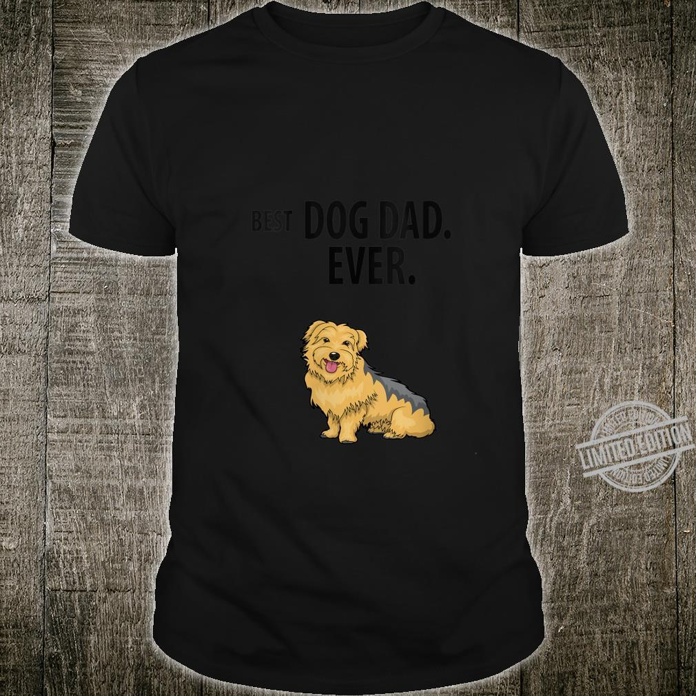 Womens Yorkie BEST DOG DAD EVER Yorkshire Terrier Pup Shirt