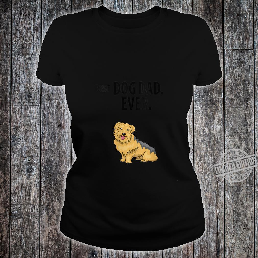 Womens Yorkie BEST DOG DAD EVER Yorkshire Terrier Pup Shirt ladies tee