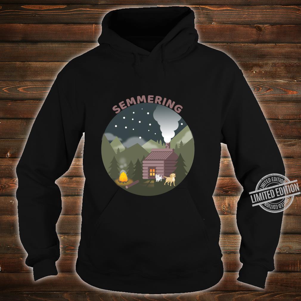 Zum Semmering mit den Hunden Langarmshirt Shirt hoodie